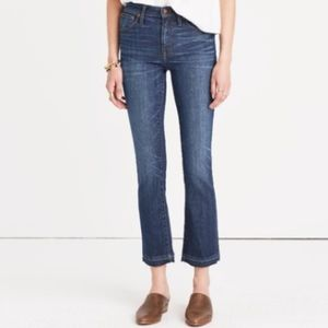 Madewell Cali Demi-Boot Released Hem Jeans Size 28